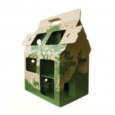 green toy find: MobileHome made from recycled cardboard Boys Playhouse, Cardboard Dollhouse, Green Toys, Best Kids Toys, Kids Zone, Paper Houses, Toys Online, Mobile Home, Play Houses