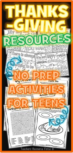 Thanksgiving / Fall Activities and Coloring Pages for teens Thanksgiving Activities for teens: coloring pages and no prep activities! Thanksgiving Activities, Holiday Activities, Thanksgiving Crafts, Fall Crafts, Group Therapy Activities, Activities For Teens, Therapy Ideas, Time Activities, Quote Coloring Pages