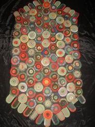 antique penny rug   Antique penny rug.