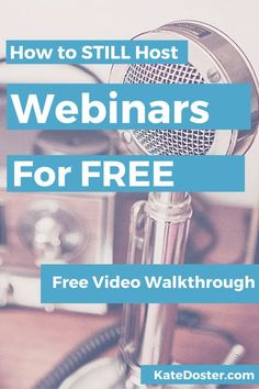 How to run highly engaging (and converting) Webinars for FREE with the New…