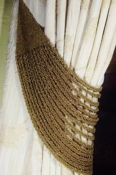 Pair Of Vintage Beaded Drapery Tie Backs by Revives on Etsy, $129.00