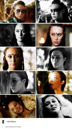 Lexa looking at Clarke