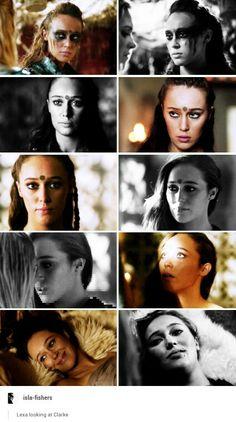 Lexa looking at Clarke