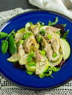 Sałatka ziemniaczana z makrelą wędzoną Potato Salad, Tacos, Potatoes, Chicken, Meat, Ethnic Recipes, Food, Potato, Essen