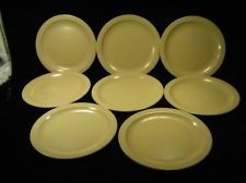 Vintage Lot of 8 Dallas Ware Melamine Melmac Dinner Plates Light Beige & LOT/SET OF 4 VINTAGE BROOKPARK MELMAC SQUARE DINNER PLATES ...