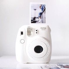 Instax Mini 8 Instant Camera - Instax Camera - ideas of Instax Camera. Trending Instax Camera for sales. - Buy this popular Instax Mini 8 Instant Camera sold by one of our favourite stores. White Pink Sky and Black colours are available . Check it out ! Polaroid Instax, Instax Mini Camera, Fujifilm Instax Mini 8, Fred Instagram, Disney Instagram, Camara Fujifilm, Photography Gear, Street Photography, White Photography