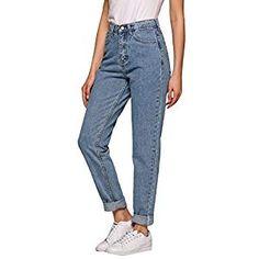 70126af4a2 Boyfriend Jeans for Women 1980s High Waist Loose Fit Classic Straight  Pants. Pantalones De Mezclilla MujerPantalones CasualesPantalones Anchos BolsillosRopa ...
