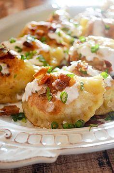 Bacon, Cheddar, Caramelized Onion, and Potato Pierogi