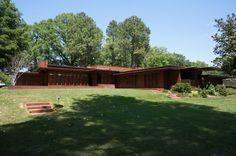 """Back"" of Frank Lloyd Wright's Rosenbaum House (Florence, AL).  Photo credit: Wes Wooden 2012"