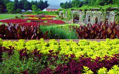 The walled garden at Biltmore House in Asheville.
