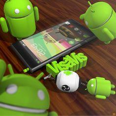 """Sho Baba: Android green friends on my desk .3dcg卓上ドロイド君ズ全力でゴマすってツイートしてきた"""