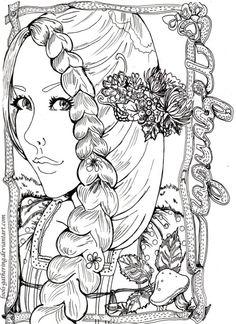 deviant art Rapunzel illustration makes me want to color