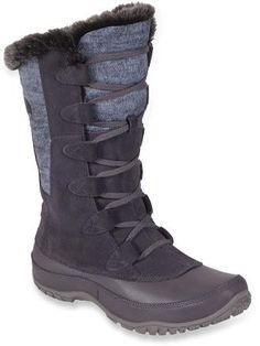 f0a3c67a351e The North Face Nuptse Purna Boot Womens Plum Kitten Grey Steeple Grey  Blackfriday Thanksgiving sale USA