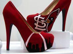 Custom Made ST LOUIS CARDINALS Heels   I would rock those ;-)