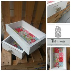 Shabby Chic painted and lined with Cath Kidston Oil Cloth