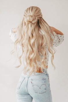 Cute Hairstyles For Teens, Easy Hairstyles For Long Hair, Teen Hairstyles, Cute School Hairstyles, Natural Hairstyles, Cute Blonde Hairstyles, Cute Quick Hairstyles, Wedding Hairstyles, Halloween Hairstyles
