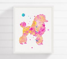 Poodle Watercolor Poodle Painting Poodle Art by MiaoMiaoDesign