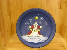 Small Hand Painted Snowman Decorative Plate by humblehrtdesigns, $8.00