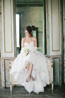 fun bridal portrait, ornate background