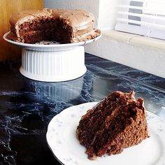Gluten Free Devil's Food Cake With Xhocolate Cream Cheese Frosting