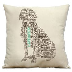 Labrador Pillow teal, chocolate, cream.  need this for our house, i miss our boys...