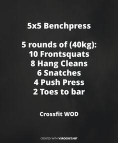 Crossfit WOD Shoulder Blowout #cleans #squats #snachtes