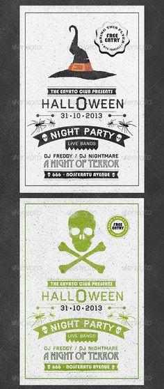 Typography Halloween Flyer