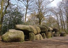 In Borger, Drenthe, is the largest dolmen in the Netherlands   22 ½ meters long and the heaviest stone weighs 23,000 kilo's.