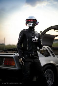 This guy DIY'ed his own Thomas from Daft Punk outfit... truly gifted guy