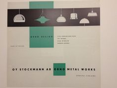 Desing lamps by Orno by Emma Barrow Vintage Lighting, It Works, Lights, Metal, Design, Metals, Lighting, Nailed It