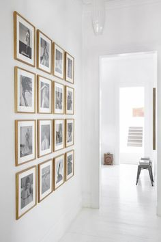 One Tip That Will Improve Your Gallery Wall | Chris Loves Julia *love black and white photos on gold frames