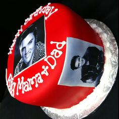 Elvis cake, edible image pics all around