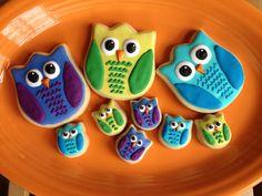 Owl Family Cookies - 1 Dozen