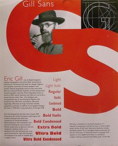 Typography Poster Project gill sans