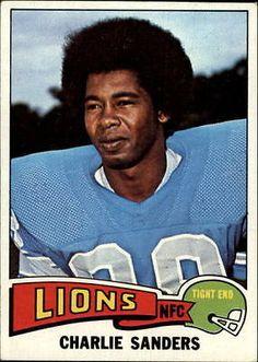1975 Topps Detroit Lions Football Card #445 Charlie Sanders - EX