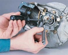How to Repair a Small-Engine Ignition System - How to Repair Small Engines: Tips and Guidelines Repair Shop, Home Repair, Car Repair, Lawn Mower Repair, Landscape Design Small, Cheap Power Tools, Woodworking Power Tools, Engine Repair, Appliance Repair
