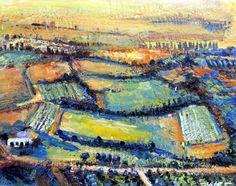 Provence Luberon Fields Encaustic Wax by MoniqueKenSarkessian, sold