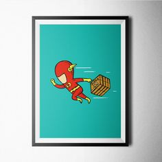 Flash poster design for home office wall decoration #ironman #comics #poster #decoration #home #kids #kidsroom #movies #tvseries #hero #poster #wall #wallart #decor