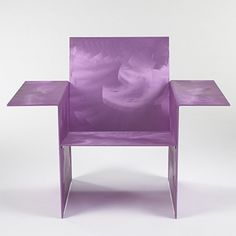 FORREST MYERS    Cut Out Easy Chair    USA, 1971  anodized aluminum  42.5 w x 25.5 d x 33 h inches