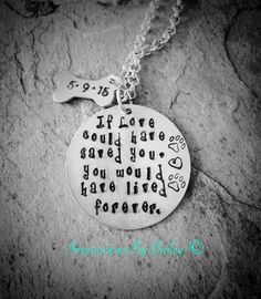Custom Stamped Memorial Pet Necklace , Remembrance, Dog Bone. - pinned by pin4etsy.com