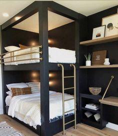 Bunk Bed Rooms, Bunk Beds Built In, Bedrooms, Benjamin Moore, Cool Kids Rooms, Bunk Bed Designs, House Inside, Home Decor Bedroom, Bedroom Ideas