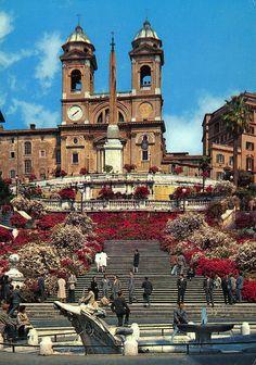 Piazza di Spagna, Church of Trinita dei Monti, Rome, Italy, via Flickr.