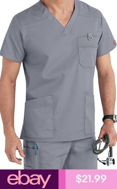 Tony likes neutrals and many pockets. He has scrubs with these brands: Dickies and Carhartt. Scrubs Outfit, Scrubs Uniform, Men In Uniform, Dental Uniforms, Healthcare Uniforms, Scrub Suit Design, Cute Nursing Scrubs, Scrubs Pattern, Stylish Scrubs