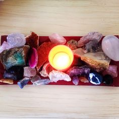 Just some of my crystals. Quartz, amethyst, chrysoprase, citrine, agate, sodalite