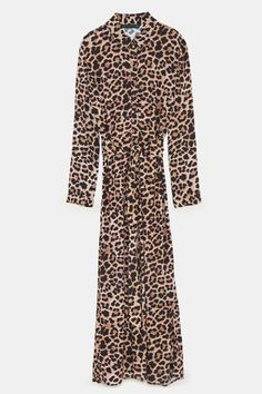 2a38168f1079ba Image 8 of LONG LEOPARD PRINT DRESS from Zara Maxi Shirt Dress