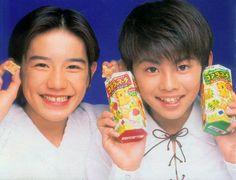 A very young Hideki Takizawa and Imai Tsubasa (Tackey & Tsubasa).