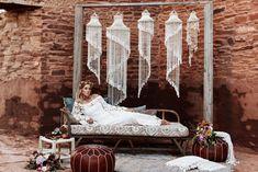 Macrame Wedding - Lounge, Bouquet Wrap  #bohemian #modernmacrame Quarai Ruins, New Mexico