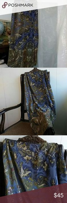 COLDWATER CREEK silk print wrap skirt Paisley print all silk wrap skirt. Beautiful muted fall colors. Pair with silk blouse to dress it up or with a chunk sweater and boots for a more casual feel. No tears, rips, holes, or stains. Approximately 37 inches long. COLDWATER CREEK Skirts Maxi