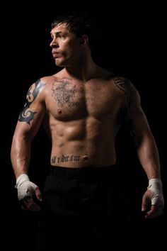 Tom Hardy poses for the 128 page coffee table book 'The Men of Warrior'