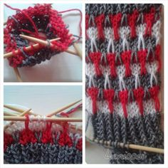Lumioosi: Kerrosrivinoususukat kolmella värillä Friendship Bracelets, Knitting, Crafts, Fashion, Moda, Manualidades, Tricot, Fashion Styles, Breien